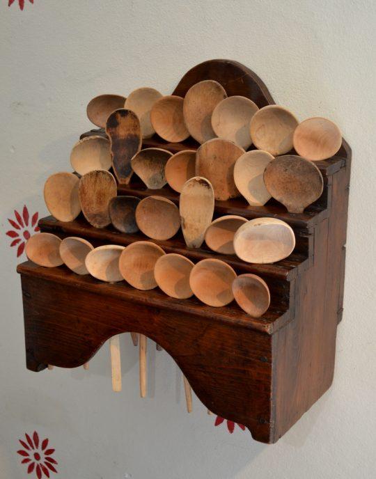 Welsh spoon rack & spoons