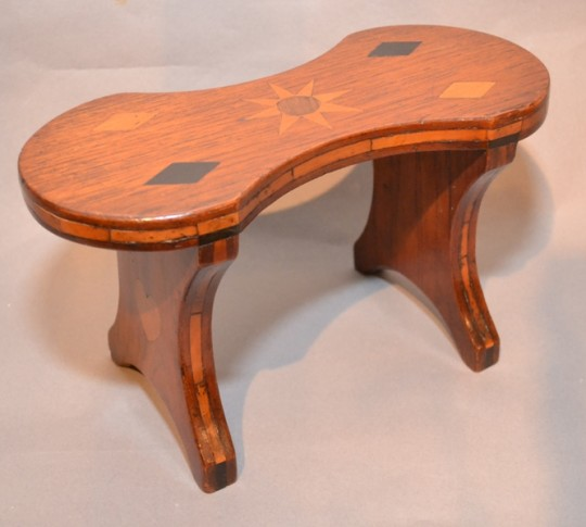 treen stool folk art stool