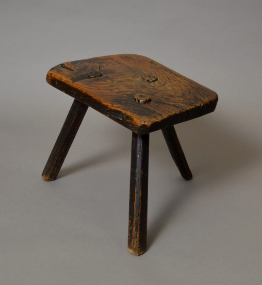 Primitive ash stool Sold