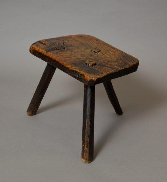 Primitive ash stool Sold