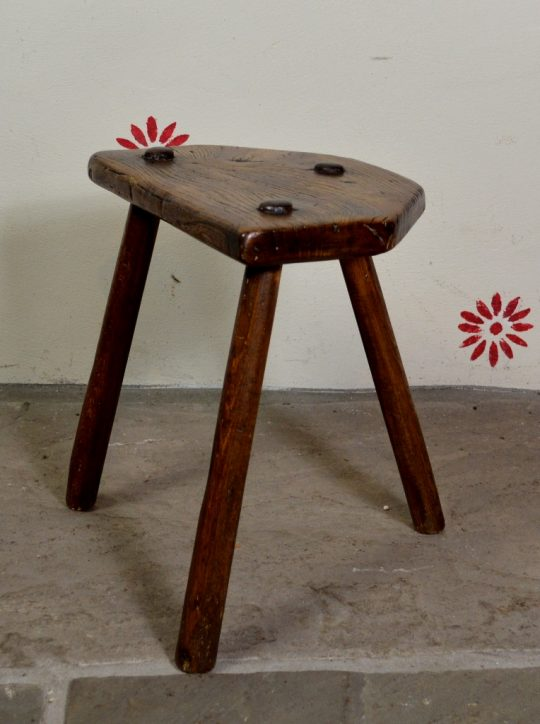 Welsh ash & elm stool Sold