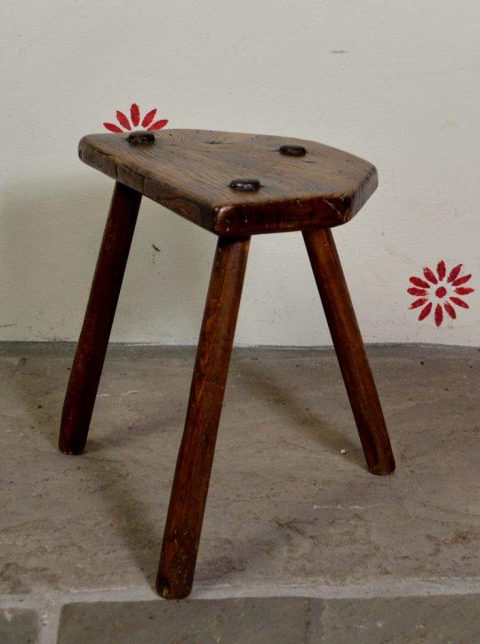 Welsh ash & elm stool