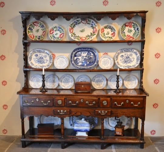 Welsh oak potboard dresser