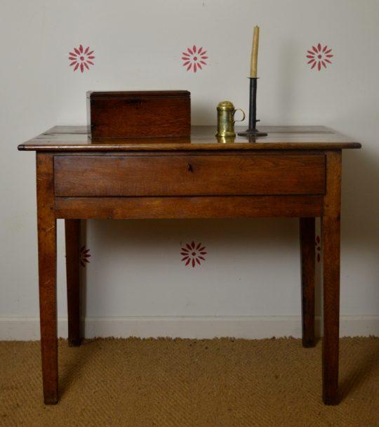 Cardiganshire oak side table Sold