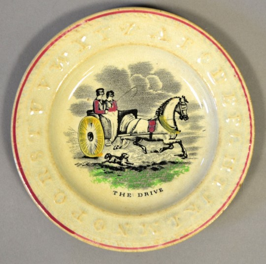 19th century child's alphabet plate