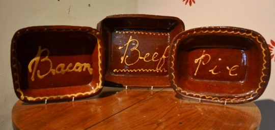 Late 19th century Buckley pottery dishes