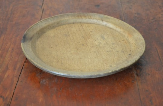 Turned sycamore plate