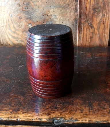 Treen barrel Sold