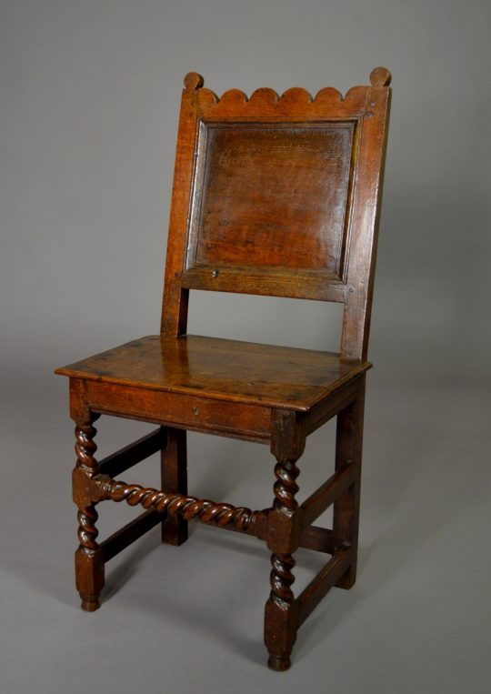 Panelled oak chair
