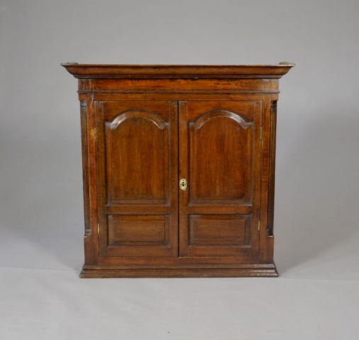 Georgian oak wall cupboard SOLD