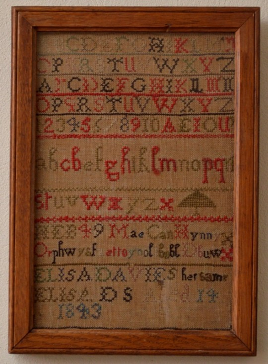 Welsh language sampler Sold