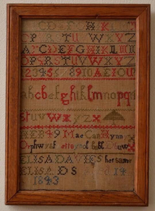 Welsh language sampler Sold
